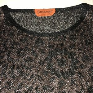 MISSONI Sparkly Floral Light Pullover Sweater